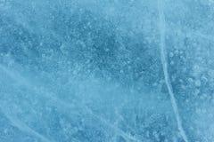 Struttura incrinata del ghiaccio Fotografia Stock