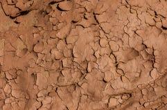 Struttura incrinata e secca del fondo della sporcizia del fango nel deserto Immagine Stock