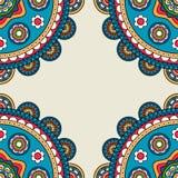 Struttura indiana di hippy di scarabocchio dei rossetes illustrazione vettoriale