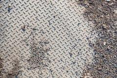 Struttura industriale sporca del pavimento della presa Immagini Stock Libere da Diritti