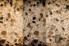 Struttura invecchiata della parete del cemento, fondo della roccia, superficie incrinata Immagini Stock Libere da Diritti