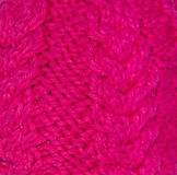 Struttura lavorata a maglia del tessuto Immagini Stock