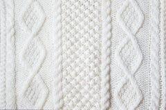 Struttura lavorata a maglia del tessuto Fotografia Stock