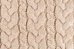 Struttura lavorata a maglia del tessuto Fotografie Stock Libere da Diritti