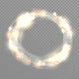 Struttura leggera del cerchio di vettore Immagini Stock