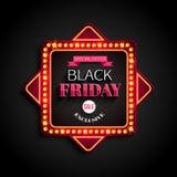 Struttura leggera di offerta speciale di Black Friday retro Immagini Stock