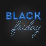 Struttura leggera di vendita di Black Friday retro Progettazione al neon Fotografia Stock Libera da Diritti
