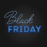 Struttura leggera di vendita di Black Friday retro Progettazione al neon Fotografia Stock