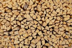 Struttura - legno del fuoco della betulla Immagine Stock Libera da Diritti