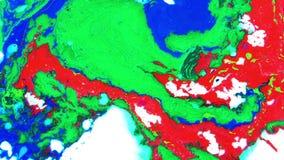 Struttura liquida di concetto di artistico del modello della pittura astratta di colore video d archivio