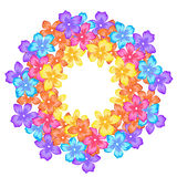 Struttura luminosa con i fiori, cerchio royalty illustrazione gratis