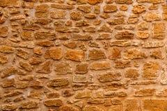 Struttura Mallorca della parete di muratura di Alcudia Città Vecchia Fotografia Stock
