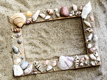 Struttura marina nella sabbia Fotografia Stock