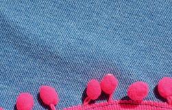 Struttura materiale d'annata del fondo delle blue jeans Fotografie Stock Libere da Diritti