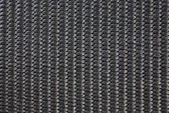 Struttura materiale tessuta nylon nero Fotografie Stock Libere da Diritti