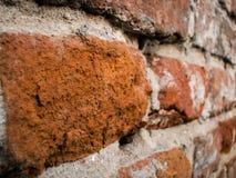 Struttura, mattoni, macro foto, immagine della parete ad angolo fotografia stock libera da diritti