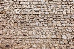 Struttura medievale della parete del castello fotografia stock libera da diritti