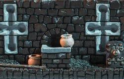 Struttura medievale miniatura Immagini Stock Libere da Diritti
