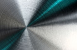 Struttura metallica astratta con i raggi blu. Fotografia Stock