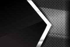 Struttura metallica 005 del fondo dell'elemento del favo e dell'acciaio illustrazione vettoriale