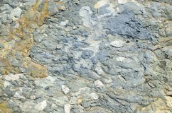Struttura microporosa di un conglomerato dell'argilla Immagini Stock
