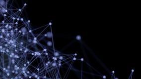 Struttura microscopica blu delle molecole Immagine Stock