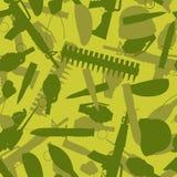 Struttura militare Siluette delle armi e dell'attrezzatura per la guerra Fotografia Stock Libera da Diritti