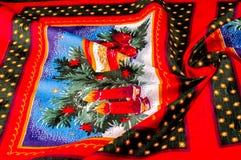Struttura, modello cartoline di Natale del tessuto Prepari per uno del Fotografie Stock Libere da Diritti