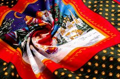 Struttura, modello cartoline di Natale del tessuto Prepari per uno del Immagini Stock