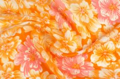 Struttura, modello Panno - fondo floreale elegante di seta W floreale Immagini Stock