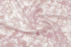 Struttura, modello Panno - fondo floreale elegante di seta W floreale Immagine Stock Libera da Diritti