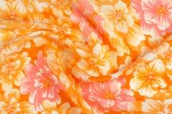 Struttura, modello Panno - fondo floreale elegante di seta W floreale Fotografia Stock