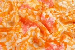 Struttura, modello Panno - fondo floreale elegante di seta W floreale Fotografie Stock Libere da Diritti