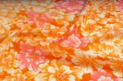 Struttura, modello Panno - fondo floreale elegante di seta W floreale Immagini Stock Libere da Diritti