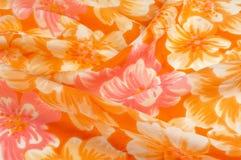 Struttura, modello Panno - fondo floreale elegante di seta W floreale Fotografie Stock