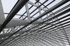 Struttura moderna dell'acciaio della costruzione Fotografia Stock Libera da Diritti