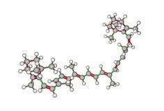 Struttura molecolare del beta-carotene Fotografie Stock Libere da Diritti