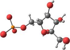 Struttura molecolare del fruttosio su fondo bianco illustrazione di stock