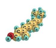 Struttura molecolare del retinolo (vitamina A) su bianco Immagine Stock Libera da Diritti