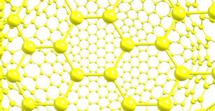 struttura molecolare del tipo di Graphene isolata su fondo bianco royalty illustrazione gratis