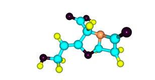 Struttura molecolare dell'acido clavulanico isolata su bianco illustrazione vettoriale
