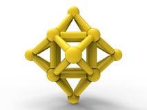 Struttura molecolare della stella astratta illustrazione di stock