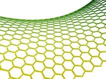 Struttura molecolare di Graphene su priorità bassa bianca illustrazione di stock