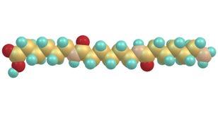 Struttura molecolare di nylon isolata su fondo bianco Fotografia Stock Libera da Diritti