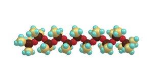 Struttura molecolare di Tetramethydisiloxane isolata su bianco illustrazione vettoriale