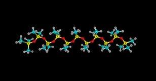 Struttura molecolare di Tetramethydisiloxane isolata sul nero illustrazione di stock