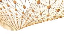 Struttura molecolare e collegamento di tecnologia di rete astratta Fotografie Stock