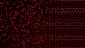 Struttura molecolare rossa, rappresentazione 3D Fotografie Stock Libere da Diritti