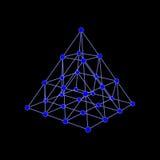 Struttura molecolare sotto forma di tetraedro Fotografia Stock Libera da Diritti