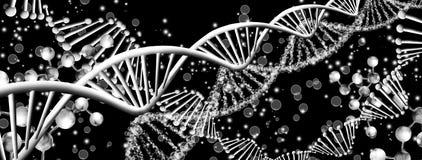 struttura molecolare su fondo nero royalty illustrazione gratis